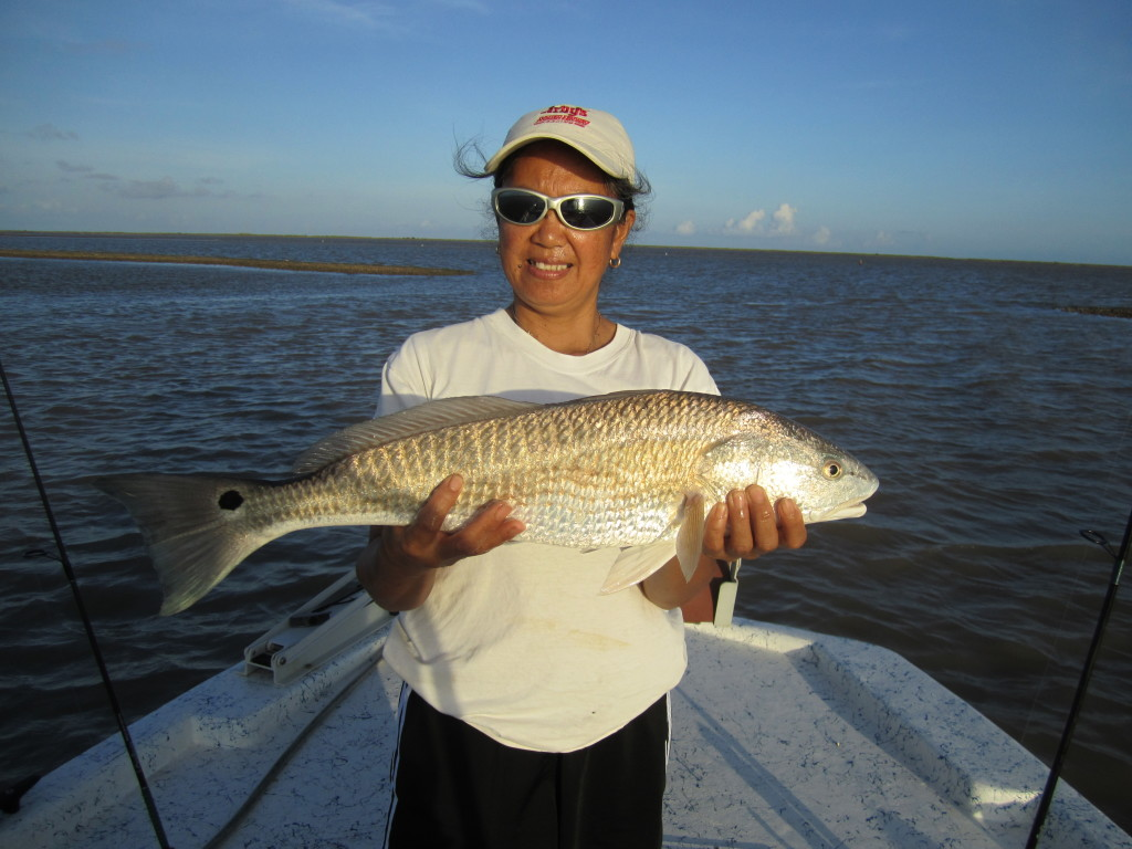 August fishing in Sargent, Texas heating up