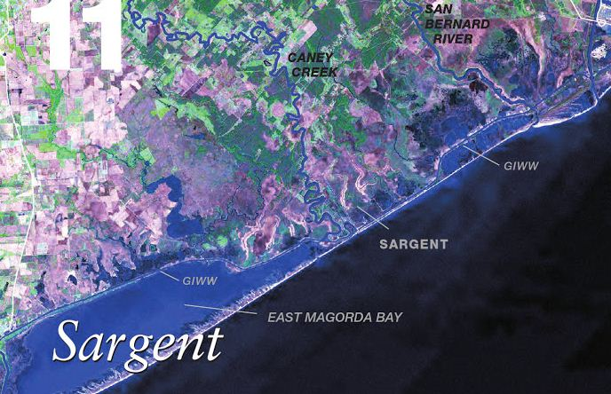 Map of Sargent East Matagorda Bay